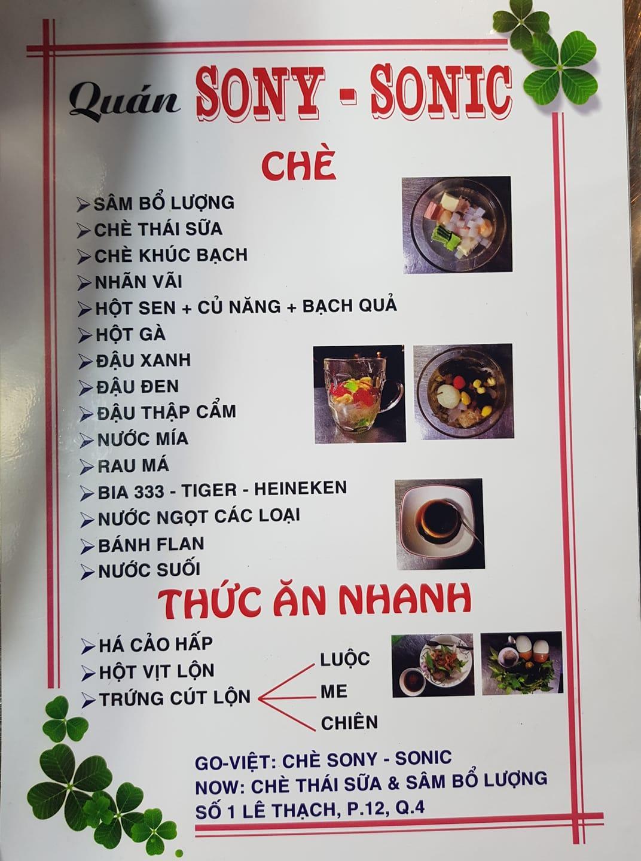 Quán Chè SONY - SONIC