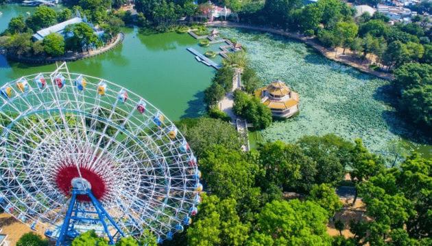 Công viên nước Đầm Sen nhìn từ trên cao xuống