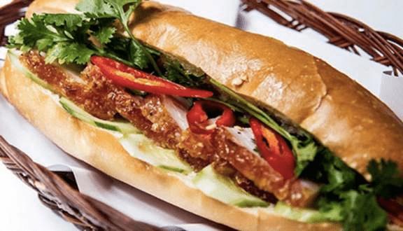 Hình ảnh bánh mì heo quay Tuyền Ký