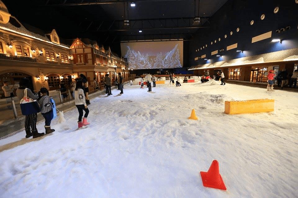 Thỏa sức chơi đùa trên lớp tuyết dày