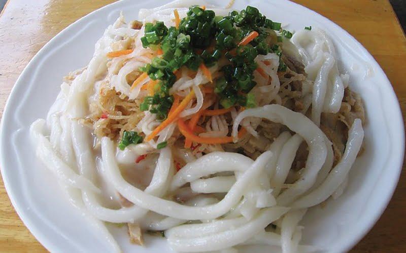 Bánh tằm ngan dừa - Món ăn ngon Bạc Liêu