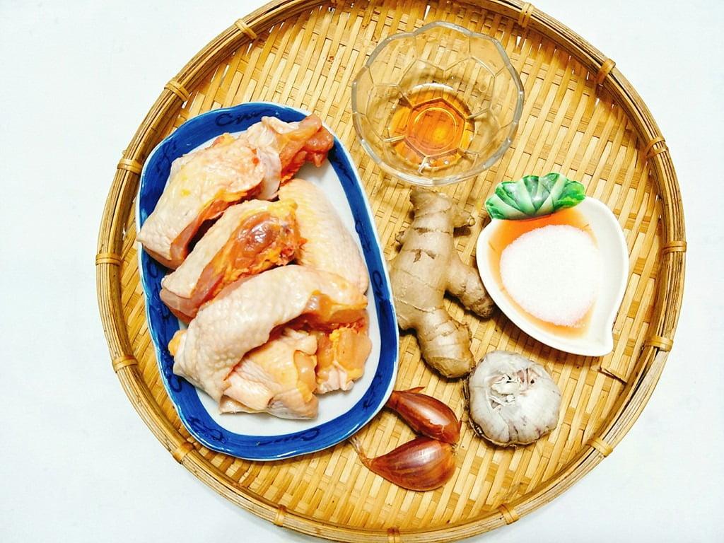 Nguyên liệu nấu món gà kho gừng