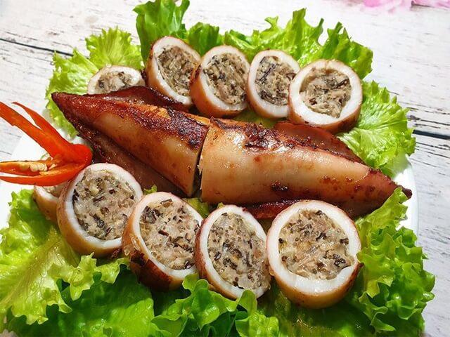 Mực cơm nhồi thịt- Món ăn ngon tại Vũng Tàu