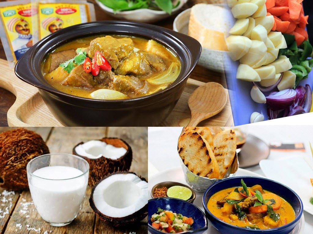 Nguyên liệu món cà ri dê Ấn Độ