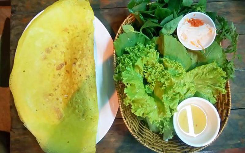Bánh xèo rau rừng - 10 món ăn ngon huyện Nhà Bè