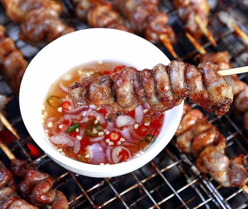 Lòng nướng - 10 món ăn ngon Thái Nguyên