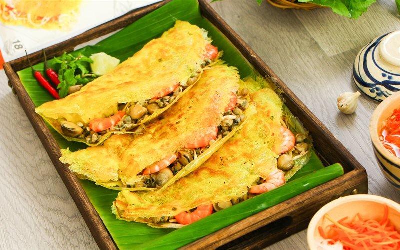 Bánh xèo hến - 10 món ăn ngon Vĩnh Long
