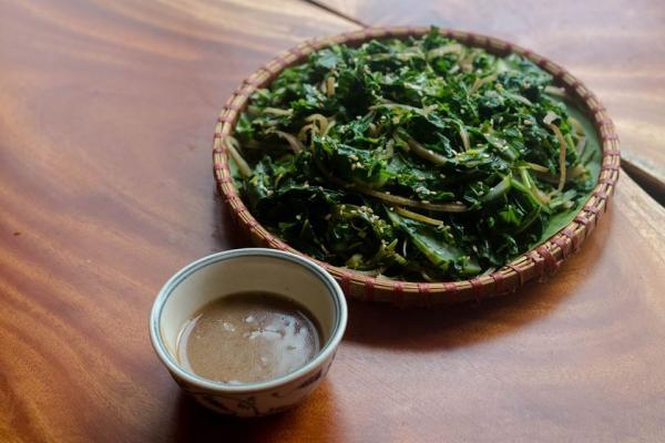 Rau rừng đồ - Món ăn ngon tại Hòa Bình