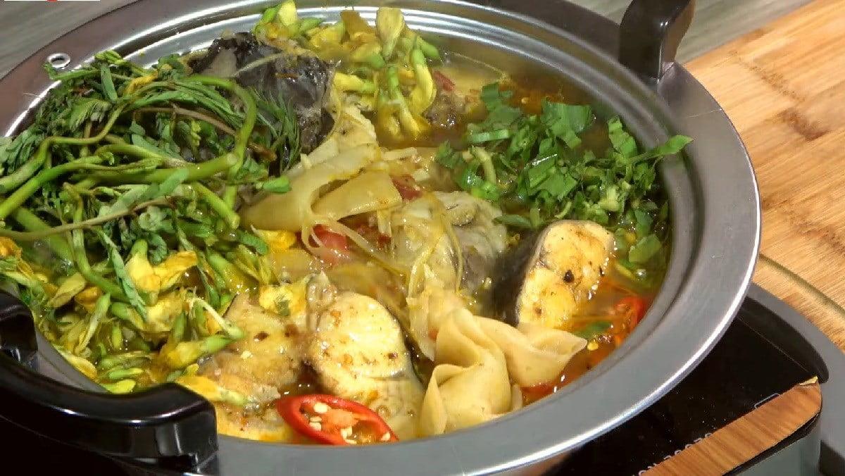 Lẩu cá ngát - Món ăn ngon tại Hậu Giang