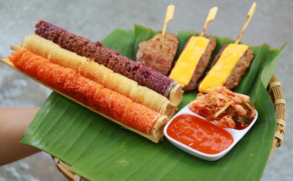 Cơm lam – Thịt nướng Thái