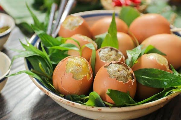 Hột gà nướng - Món ăn ngon tại Lâm Đồng